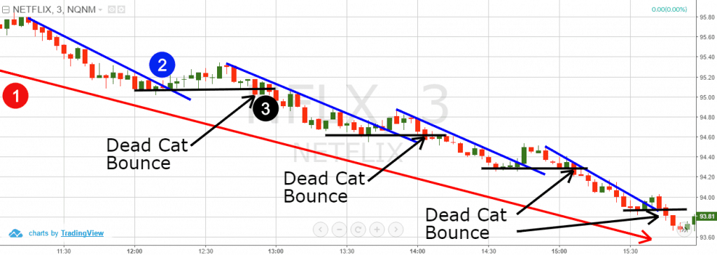 Dead Cat Bounce - Down Trend Lines